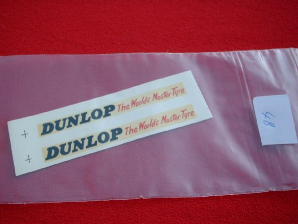 "Dinky Toys 290 DOUBLE DECKER BUS ""DUNLOP THE WORLDS MASTER TYRE"" TRANSFERS / DECALS"
